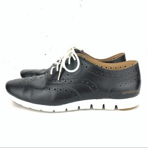 Cole Haan ZeroGrand Oxford Sneakers Black Size 9.5